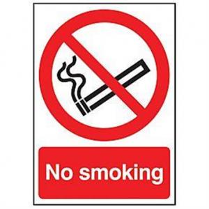 No Smoking Sign - Rigid Plastic 100 x 150mm