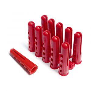 Red Plastic Fixing Plugs