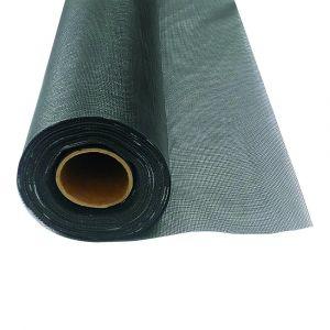 Black PVC-coated fibreglass Fly Mesh