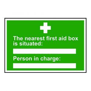 Nearest First Aid Box Sign