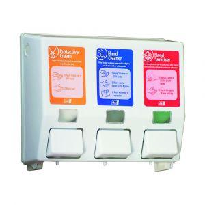 DEB Three Step Skincare Dispenser and Soaps