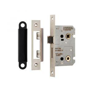 Residential Bathroom Lock - Satin Nickel