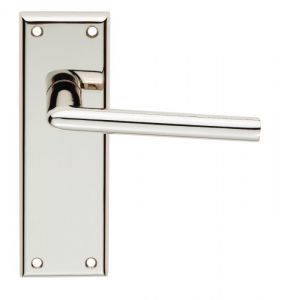 Dieci Lever Latch on Backplate - Polished Nickel