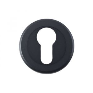 Euro Profile Escutcheons - Matt Black