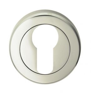 Euro Profile Escutcheons - Polished Nickel