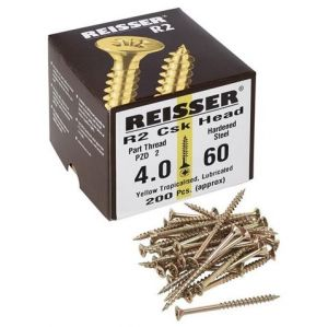 Reisser R2 Countersunk Screws Yellow