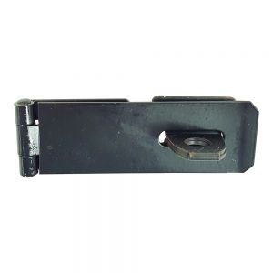 Black Safety Hasp and Staple