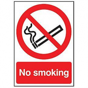No Smoking Sign with wording
