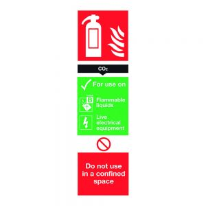 CO2 Extinguisher Sign