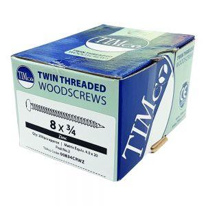 Twinthread Round Head Woodscrew