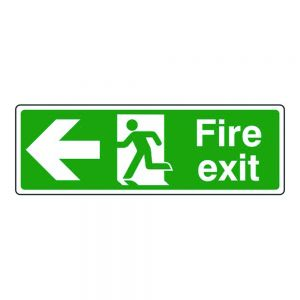 Fire Exit Arrow Left Sign