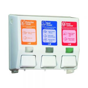 DEB Three Step Skincare Dispenser and Soaps