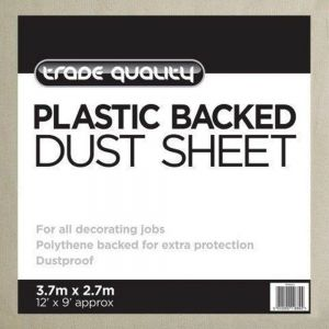 Plastic Backed Dust Sheet