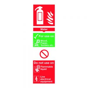 Water Extinguisher Sign