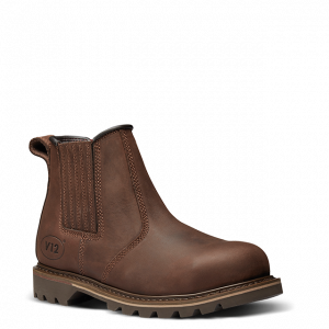 Rawhide Brown Leather Dealer Boots