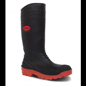 Black Safety Wellington Boots