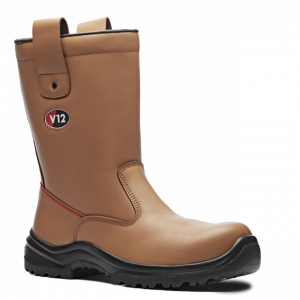 Tan Fur Lined Safety Rigger Boots