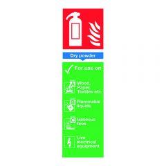 Powder Extinguisher Sign