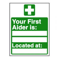 First Aider Sign