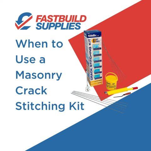 When to Use a Masonry Crack Stitching Kit
